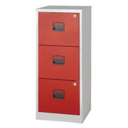 Cheap Stationery Supply of Bisley 3 Drawer A4 Home Filer Grey/Red BY78728 Office Statationery