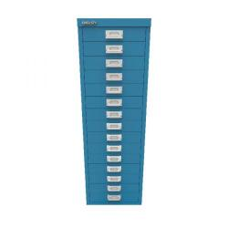 Cheap Stationery Supply of Bisley 15 Drawer Cabinet Azure Blue BY78741 Office Statationery