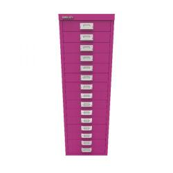 Cheap Stationery Supply of Bisley 15 Drawer Cabinet Fuschia BY78743 Office Statationery
