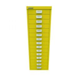 Cheap Stationery Supply of Bisley 15 Drawer Cabinet Canary Yellow BY78745 Office Statationery