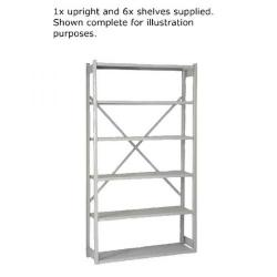 Cheap Stationery Supply of Bisley Shelving Extension Kit W1000xD300mm Grey BY838031 Office Statationery
