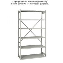 Cheap Stationery Supply of Bisley Shelving Extension Kit W1000xD460mm Grey BY838033 Office Statationery