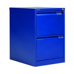 Cheap Stationery Supply of Bisley 2 Drawer Filing Cabinet Lockable 470x622x711mm Blue BS2E/BLUE Office Statationery