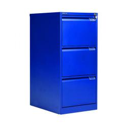 Cheap Stationery Supply of Bisley BS3E Filing Cabinet Flush Front 3D Lock Blue BS3E/BLUE Office Statationery