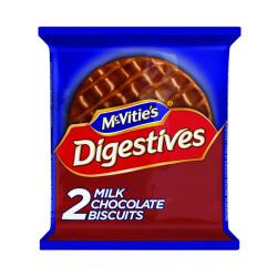 Cheap Stationery Supply of McVities Milk Chocolate Digestive Biscuit Twin Pack (Pack of 24) 32404 Office Statationery