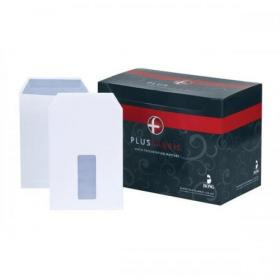 Plus Fabric Envelopes PEFC Pocket Self Seal Window 120gsm C5 229x162mm White Ref C26870 Pack of 500