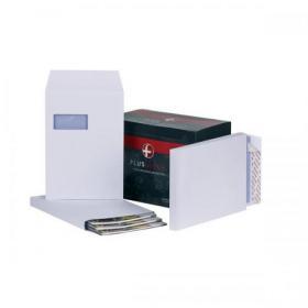 Plus Fabric Envelopes PEFC Wdw Peel & Seal Gusset 120gsm C4 324x229x25mm White Ref C27566 Pack of 100