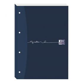 Oxford MyNotes Refill Pad Sidebd 90gsm Ruled Margin Punched 4 Holes 200pp A4 Blue Ref 100080143 Pack of 5