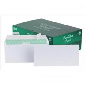 Basildon Bond Envelopes Recycled Wallet Peel & Seal 120gsm DL White Ref C80116 Pack of 500