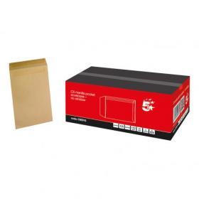 5 Star Office Envelopes C5 Pocket Self Seal 115gsm Manilla Pack of 500