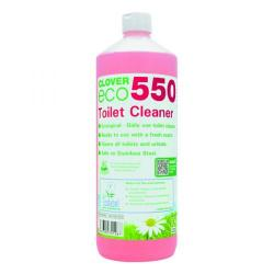 Cheap Stationery Supply of Clover ECO 550 Toilet Cleaner 1 Litre (Pack of 12) 550 Office Statationery