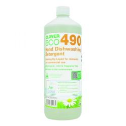 Cheap Stationery Supply of Clover ECO 490 Dishwashing Detergent 1 Litre (Pack of 12) 490 Office Statationery