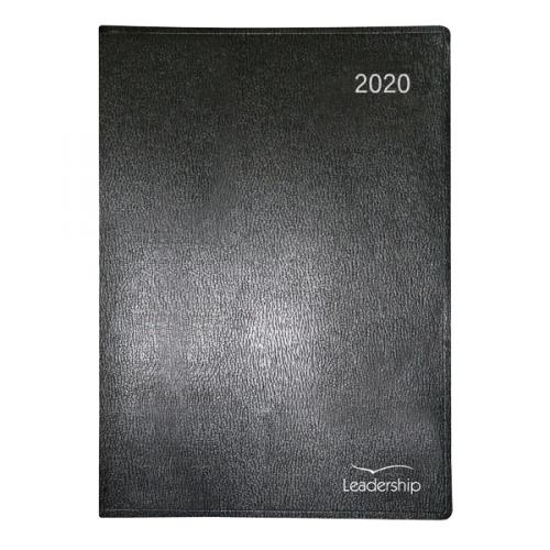 2020 Executive A4 Week To View Desk Premium Padded Diary with Hour Appointments