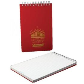 Exacompta Chartwell Ruled Watershed Waterproof Book 101x156mm Red 2291