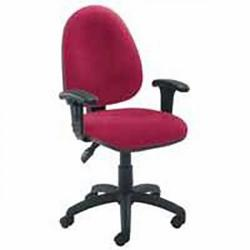 Cheap Stationery Supply of Initiative Medium Back Operator Chair Claret Office Statationery