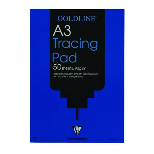 A3 90 gsm Clairefontaine Goldline Popular Drawing Pad 50 Sheets