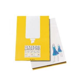 Clairefontaine Goldline A3 80 Sheet 50gsm Acid-Free Paper Layout Pad GPL1A3