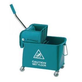 Mobile Mop Bucket and Wringer 20 Litre Green 101248GN