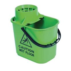Cheap Stationery Supply of 2Work Plastic Mop Bucket with Wringer 15 Litre Green 102946GN Office Statationery
