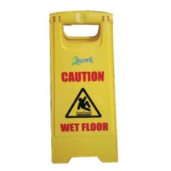 Cheap Stationery Supply of 2Work Caution Folding Safety Sign Yellow 101423 Office Statationery