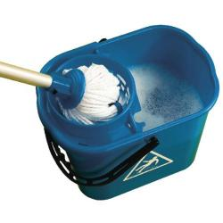 Cheap Stationery Supply of 2Work Plastic Mop Bucket with Wringer 15 Litre Blue 102946BU Office Statationery