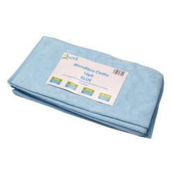 Cheap Stationery Supply of 2Work Microfibre Cloth 400x400mm Blue (Pack of 10) 101161BU Office Statationery