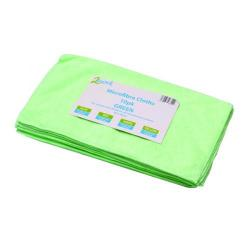 Cheap Stationery Supply of 2Work Green 400x400mm Microfibre Cloth (Pack of 10) 101161GN Office Statationery