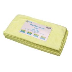 Cheap Stationery Supply of 2Work Yellow 400x400mm Microfibre Cloth (Pack of 10) 101161YL Office Statationery