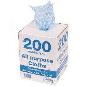Blue Antibacterial Cloth Box 220 x 370mm (Pack of 200) 100247BU