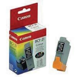Cheap Stationery Supply of Canon BCI-21CL Colour Inkjet Cartridge 0955A002 Office Statationery