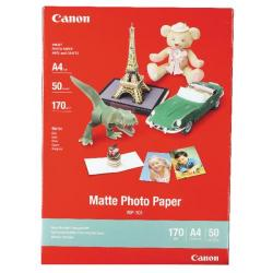 Cheap Stationery Supply of Canon A4 Photo Paper 170gsm Matte (Pack of 50) MP-101 A4 Office Statationery