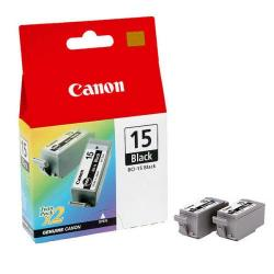 Cheap Stationery Supply of Canon BCI-15BK Black Inkjet Cartridges (Pack of 2) 8190A002 Office Statationery
