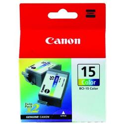 Cheap Stationery Supply of Canon BCI-15C Colour Inkjet Cartridges (Pack of 2) 8191A002 Office Statationery