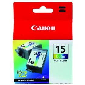 Canon BCI-15C Colour Inkjet Cartridges (Pack of 2) 8191A002