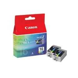 Cheap Stationery Supply of Canon BCI-16 CMY Inkjet Cartridges (Pack of 2) 9818A002 Office Statationery