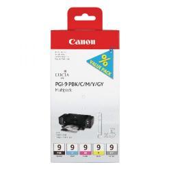 Cheap Stationery Supply of Canon PGI-9  BK/C/M/Y/GY Ink Cartridge 1034B013 Office Statationery