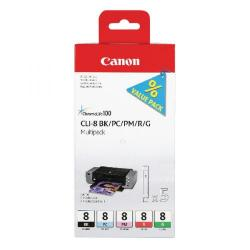 Cheap Stationery Supply of Canon CLI-8 Multi Pack Ink Cartridge 0620B027 Office Statationery