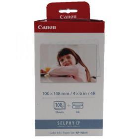 Canon KP-108IN Colour Ink/Paper Set Postcard Size (108 Photos) 3115B001