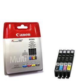 Canon CLI-521 Inkjet Cartridges (Pack of 4) 2933B010