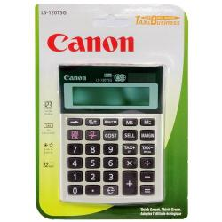 Cheap Stationery Supply of Canon LS-120TSG Battery/Solar Desktop Calculator 1 Memory Key 12-Digit Grey Gold 3813B001AA Office Statationery