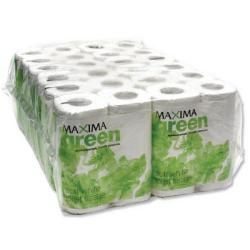 Cheap Stationery Supply of Maxima Green 2-Ply White Toilet Roll 200 Sheet (Pack of 48) KMAX200G Office Statationery