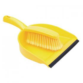 Dustpan and Brush Set Yellow 102940YL