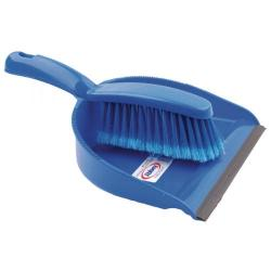 Cheap Stationery Supply of Dustpan and Brush Set Blue (Rubber lipped edge and soft bristled handle) 102940BU Office Statationery