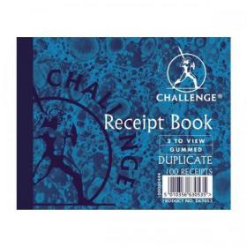 Challenge Duplicate Book Carbon Receipt Book 2 Sets per Page 100 Sets 105x130mm Ref 100080444 Pack of 5