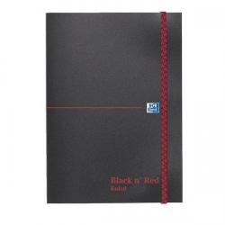 Cheap Stationery Supply of Black n Red (A5) 90g/m2 192 Pages Ruled Polynote Elasticated Casebound Notebook (Pack of 5) 100080449 Office Statationery