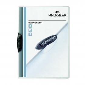 Durable Swingclip Clip Folder A4 Black (Pack of 25) 2260/01