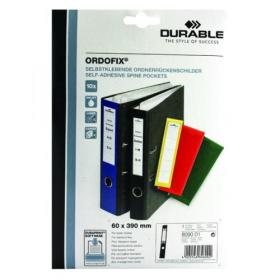 Durable Ordofix Self-Adhesive File Spine Label, 60mm, Black (Pack of 10) 8090/01