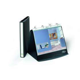 Durable Durastar Table Top Presenter A4 Landscape Graphite Grey 8567/39