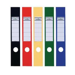 Cheap Stationery Supply of Durable Ordofix Lever Arch File Spine Labels Assorted (Pack of 10) 8090/00 Office Statationery