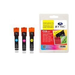 Cheap Stationery Supply of Jet Tec Remanufactured Canon CLI-8 CMY Multipack CL8CMY Inkjet Printer Ink Office Statationery